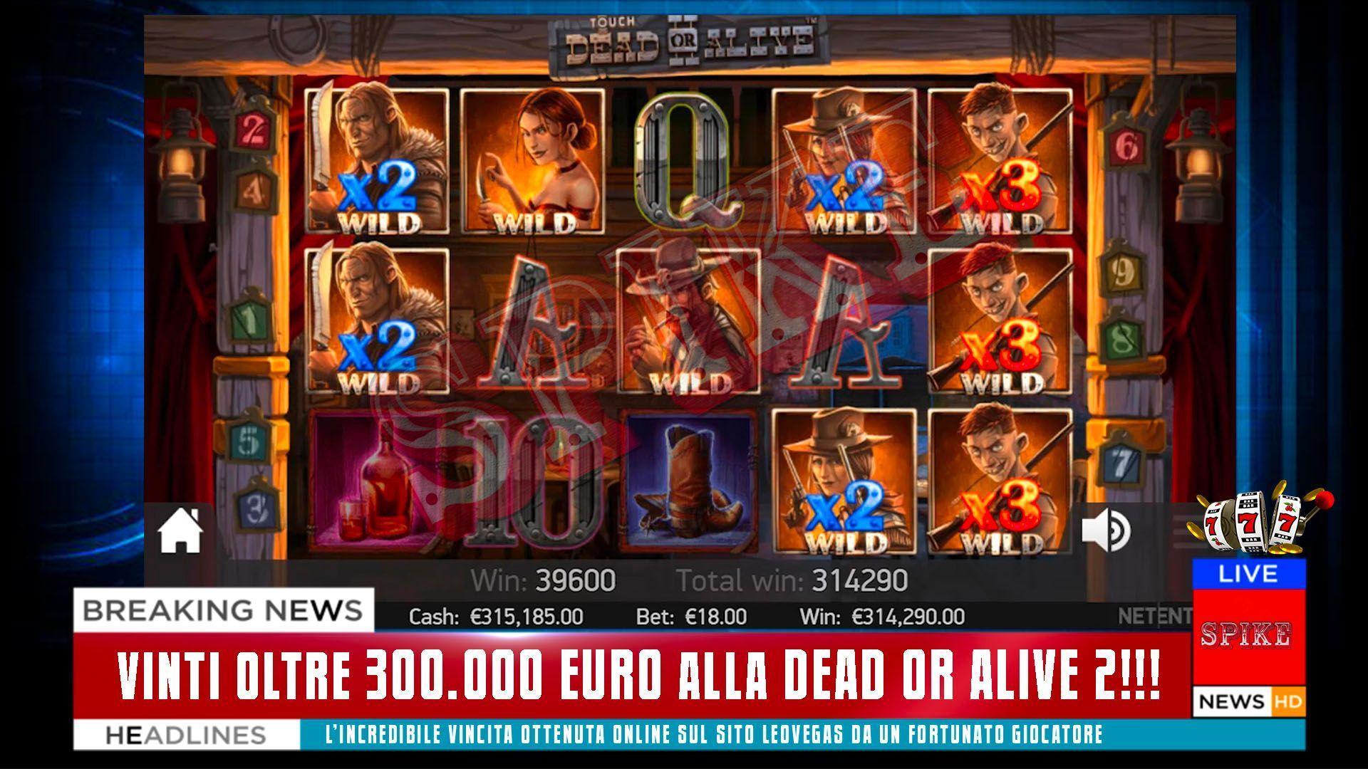 Vincita Fortunata Dead or Alive 2 Articolo