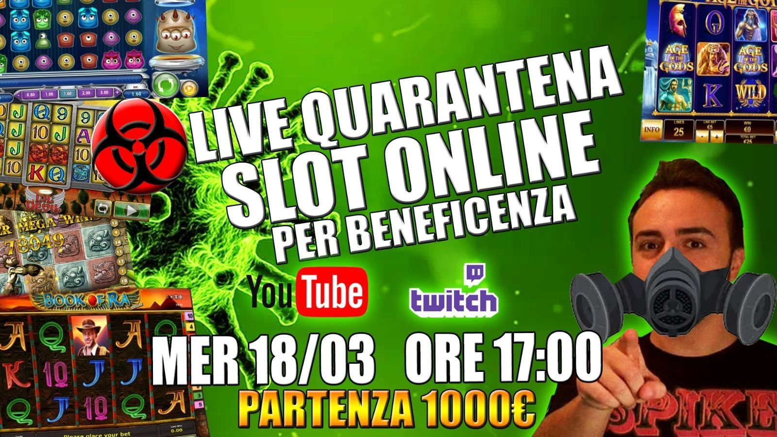 Logo Slot Online Beneficenza Emergenza Covid