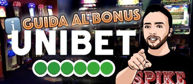 Guida Bonus Benvenuto Unibet Casino