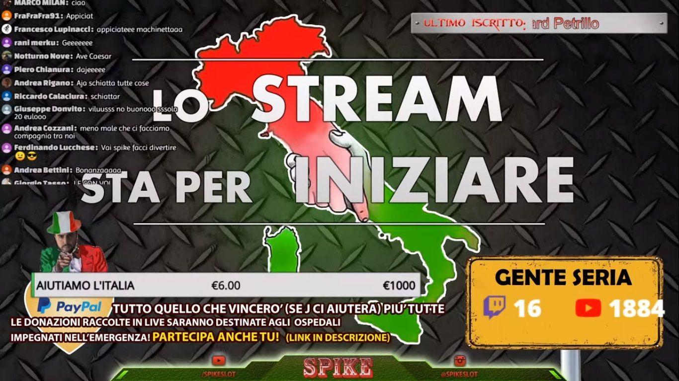Schermo Live Slot Online per Beneficenza Sta per Iniziare