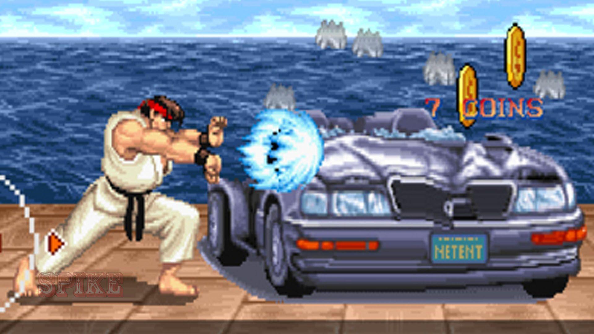 Car Smash Bonus Game Screen Slot Online Street Fighter II