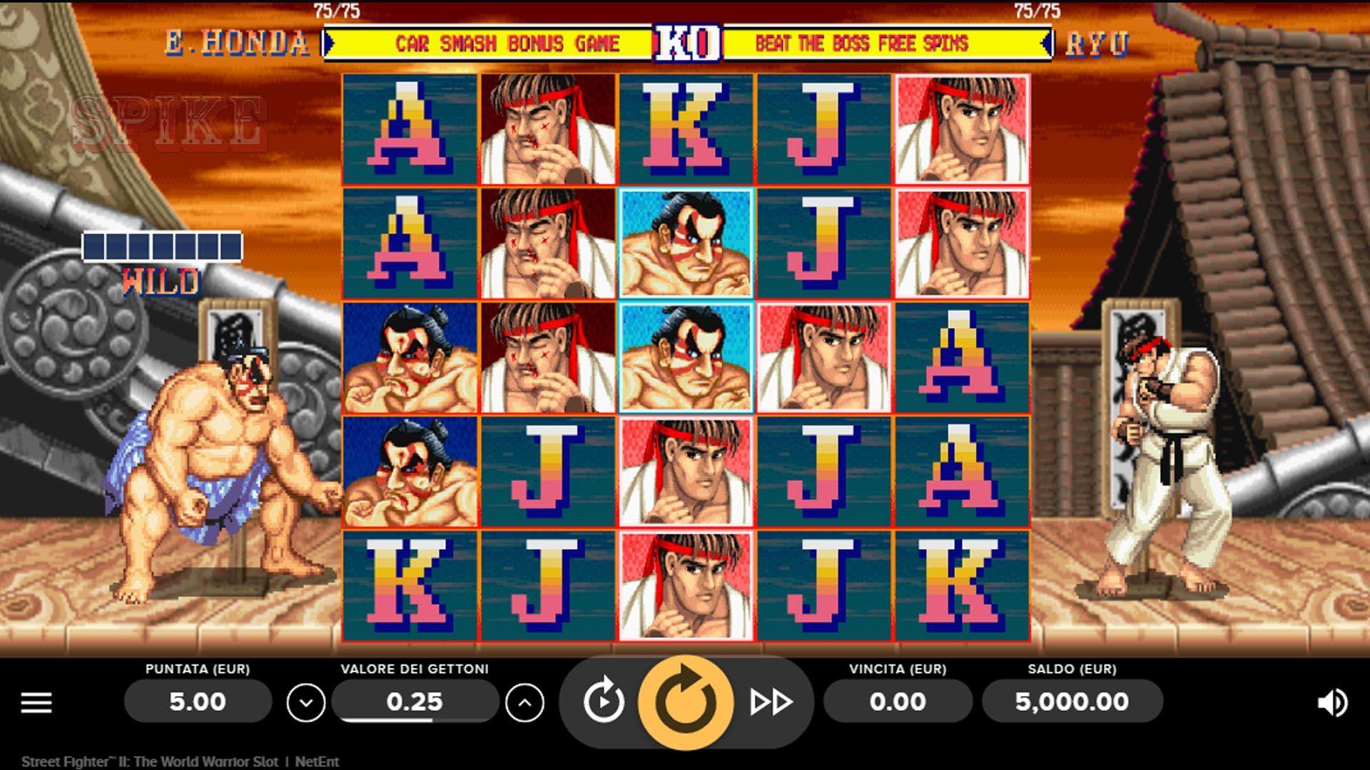 Main Screen Slot Online Street Fighter II